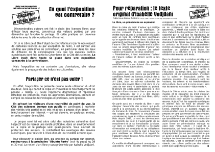 Seconde page du dépliant