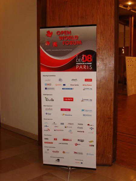 Photo de l'Open World Forum