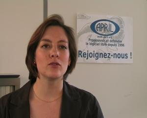 Alix Cazenave explique pourquoi l'association April a besoin d'adhérents