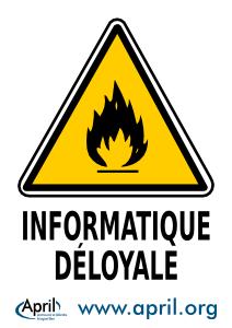 Panneau Danger Informatique déloyale