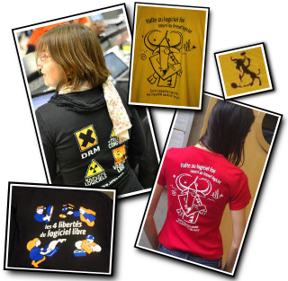 Photo montage avec des t-shirts April