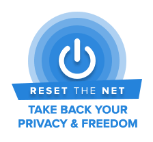 Reset The Net banner
