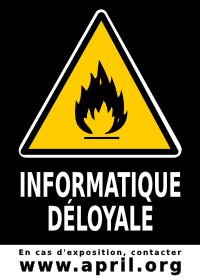 Sticker informatique déloyale