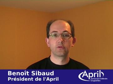 Benoît Sibaud remercie les adhérents à l'April