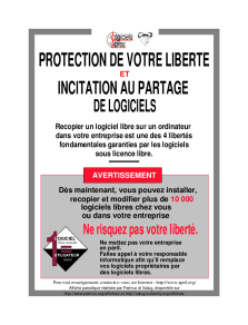 APRIL affiche Protection de votre liberté et Incitation au partage de logiciels