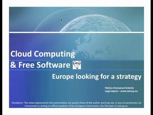 Cloud Computing & Free Software - Europe looking for a strategy