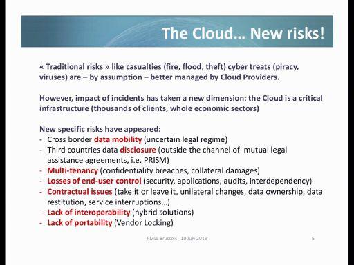 The Cloud... New risks!