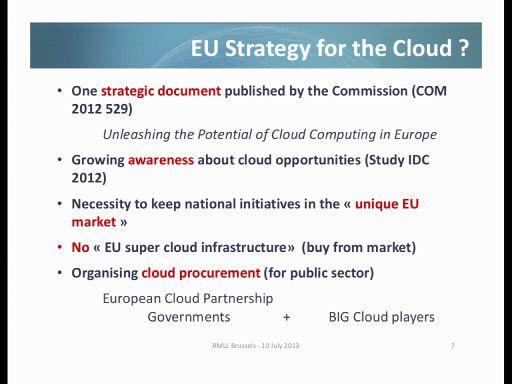 EU Stragegy for the Cloud?