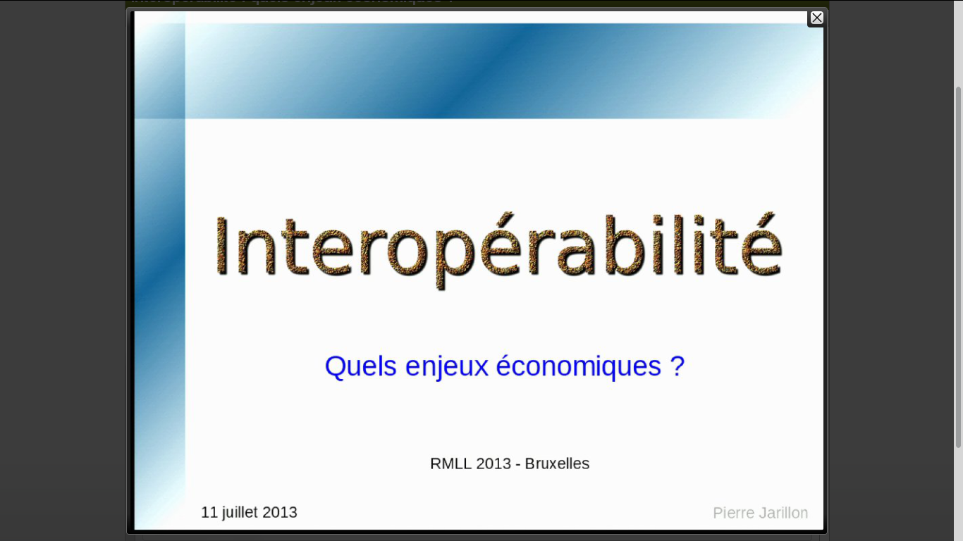 intervenant et slides