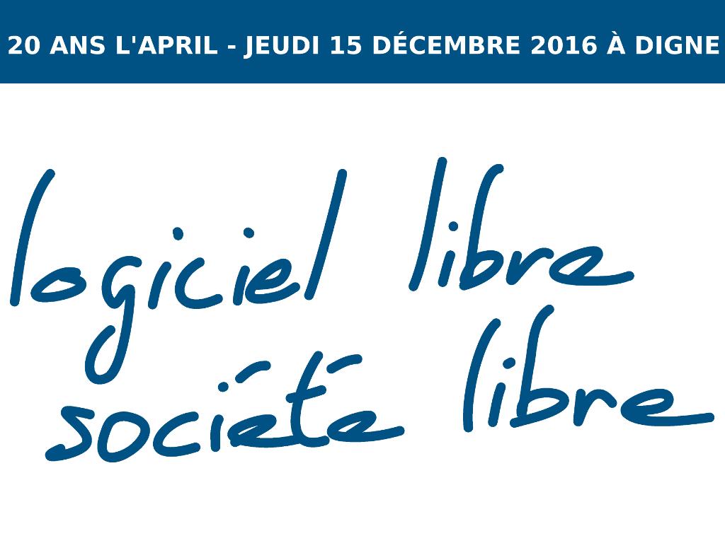 20 ans de l'April - jeudi 15 décembre 2016 à Digne