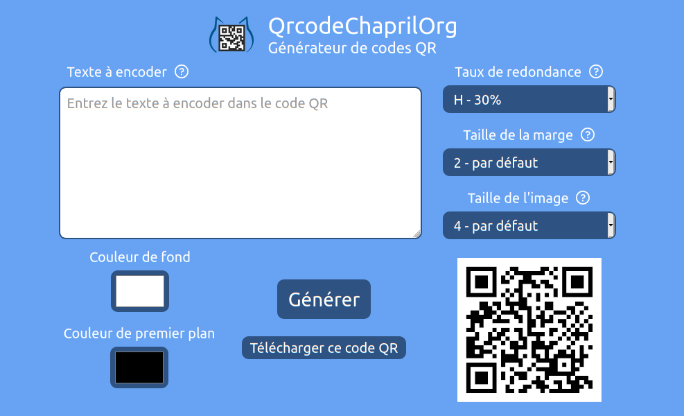 Service qrcode.chapril.org