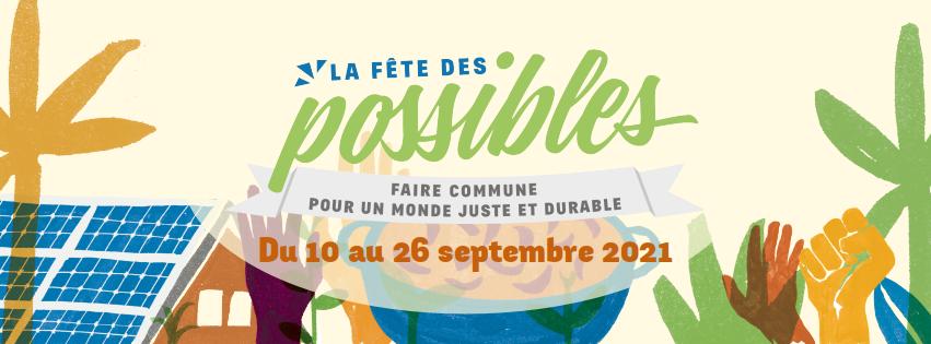 Bannière de la Fête des Possibles 2021