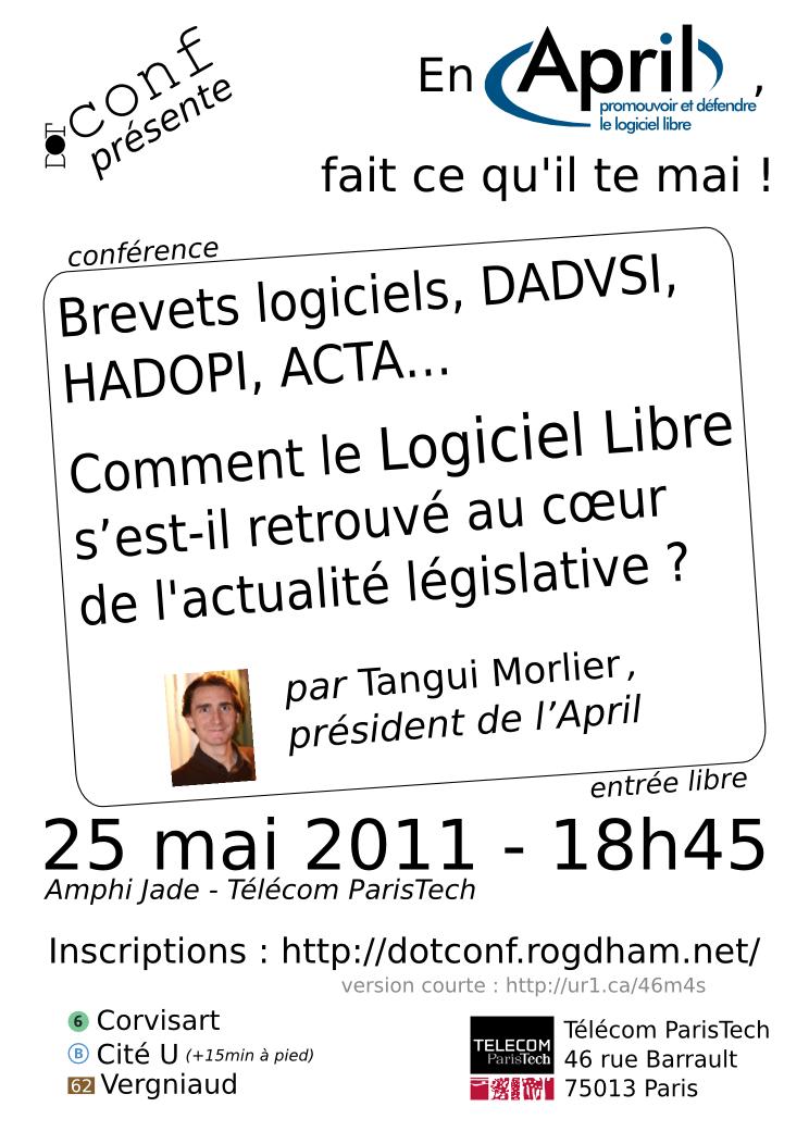 Affiche de la conférence réalisée Pierre Pavlidès
