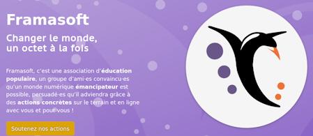 Page d'accueil du site Framasoft