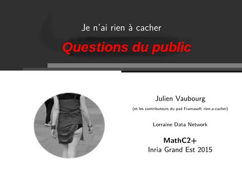 Public de Julien Vaubourg