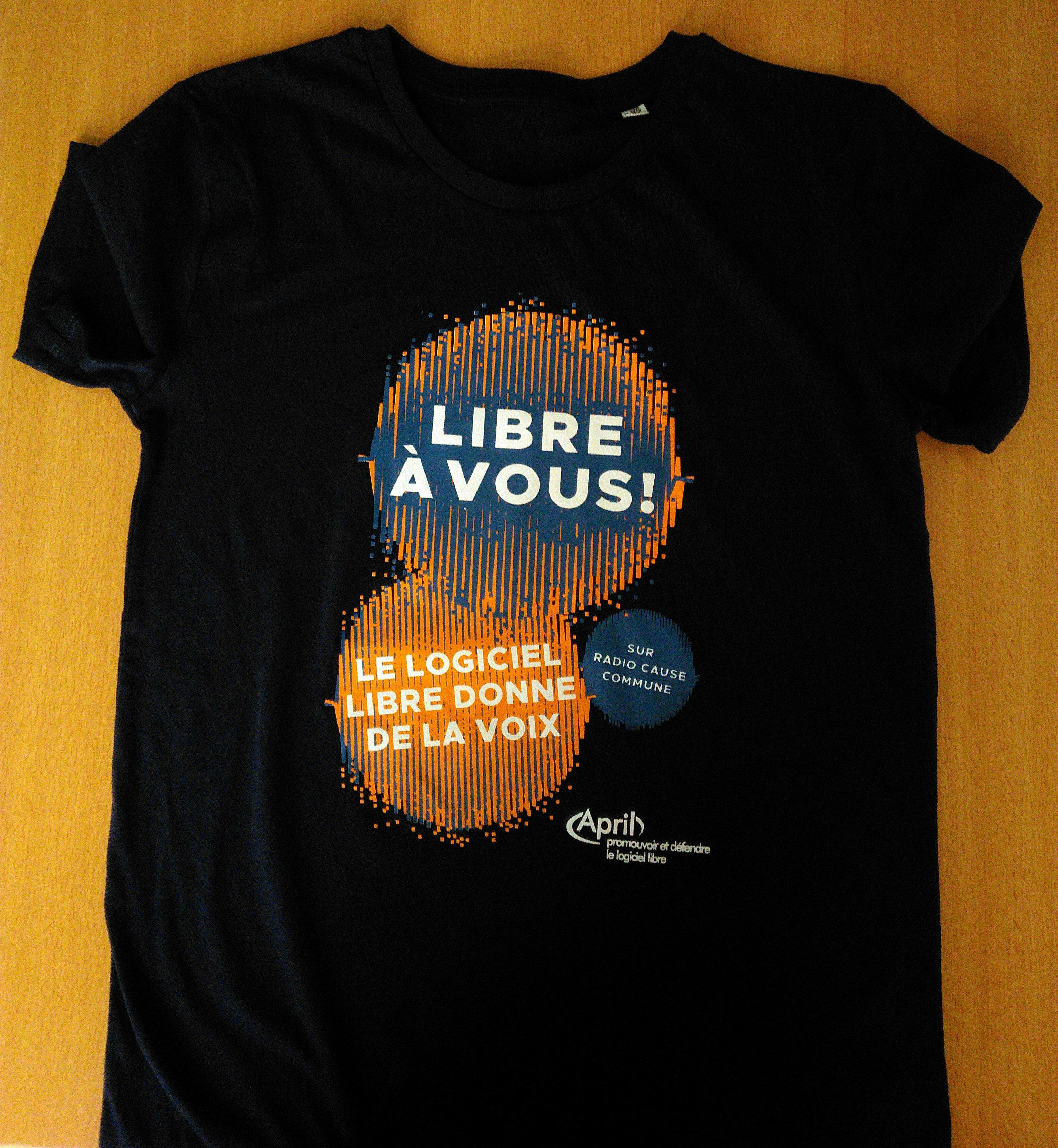 Image du t-shirt Le logiciel libre donne de la voix